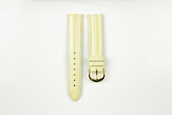 horlogeband hagedissenprint beige