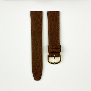 horlogeband olifantenprint bruin