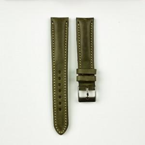 horlogeband classic runderleer groen