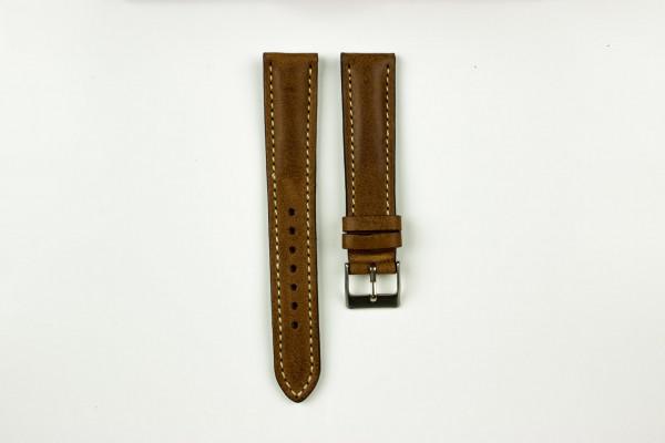 horlogeband classic runderleer kastanjebruin