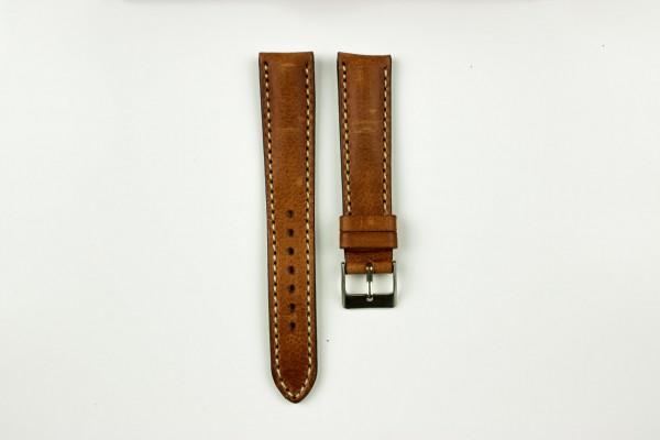 horlogeband classic runderleer bruin