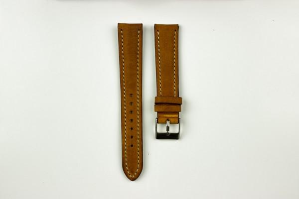 horlogeband classic runderleer cognac