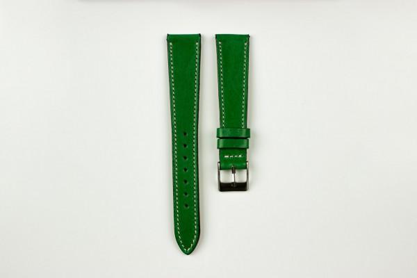 horlogeband vintage gestikt groen