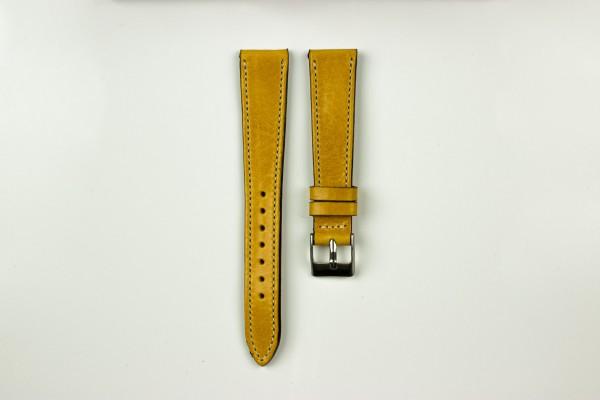 horlogeband vintage gestikt geel