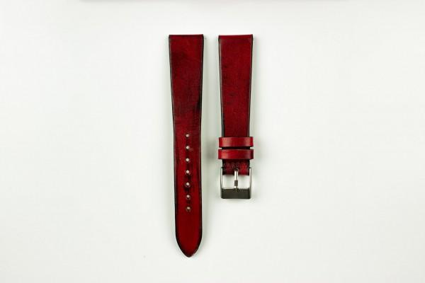 Horlogeband vintage rood
