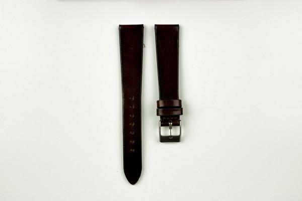 Horlogeband vintage donkerrood