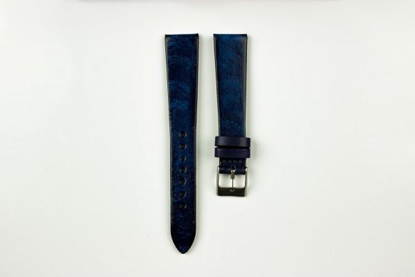 Horlogeband vintage blauw