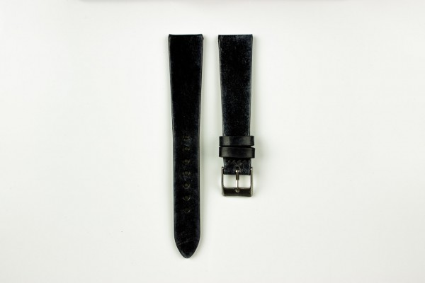 Horlogeband vintage zwart