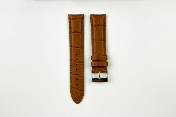horlogeband croco lichtbruin
