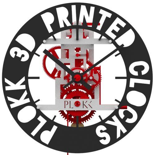 PLOKK 3D geprinte klok met eigen tekst