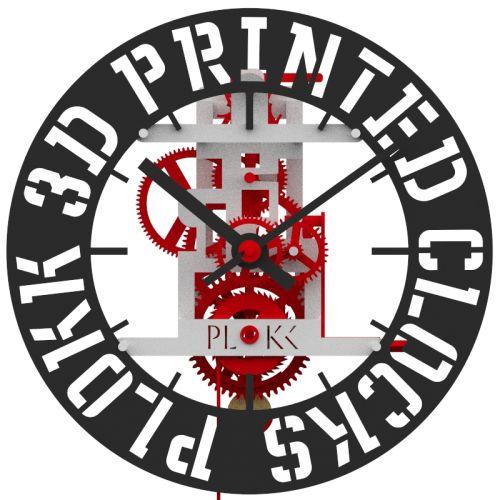 PLOKK 3D geprinte slingerklok met eigen tekst
